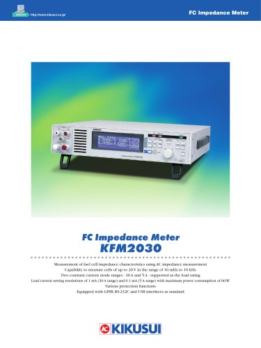 Fuel Cell Impedance Meter with Built-in E-Load / KFM2030