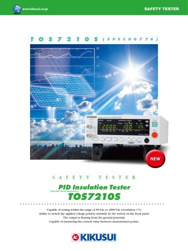 TOS7210S PID Insulation Tester