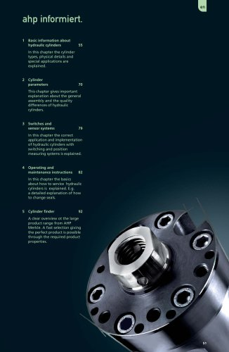 ahp.informiert - Helpful informations about Hydraulic Cylinders