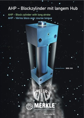 Block cylinder with long stroke