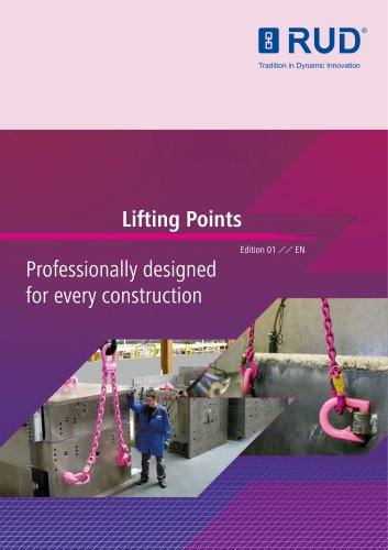 Lifting Points Professionally designed for every construction