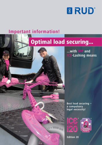 Optimal load securing with ICE and VIP-Lashing means