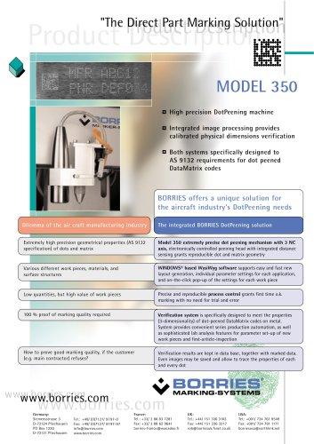 ausführliche Beschreibung in englisch           Präzisionsprägegerät M 350