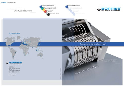 Brochure about our Conventional Marking Technology