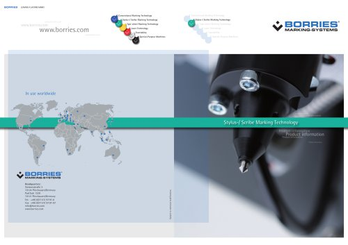 Brochure about our Stylus-/ Scribe Marking Technology