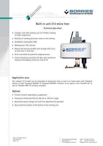 built-in unit 313 micro liner