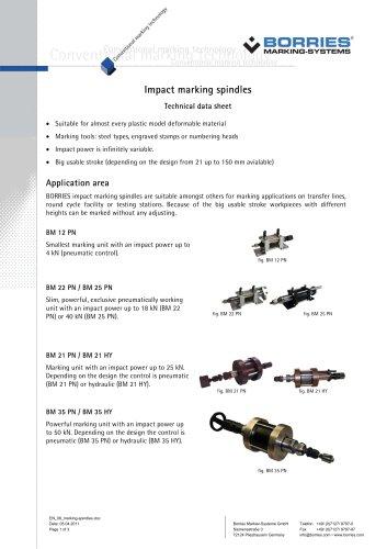 Impact marking spindles