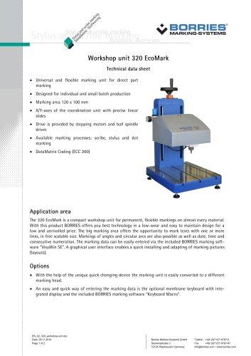 Workshop unit 320 EcoMark