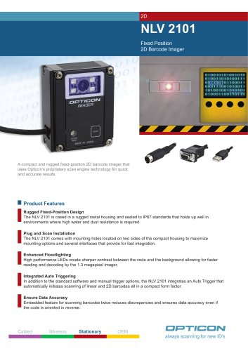 NLV 2101 Fixed Position 2D Barcode Imager