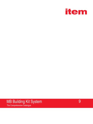 MB Building Kit System 9 - The Comprehensive Catalogue