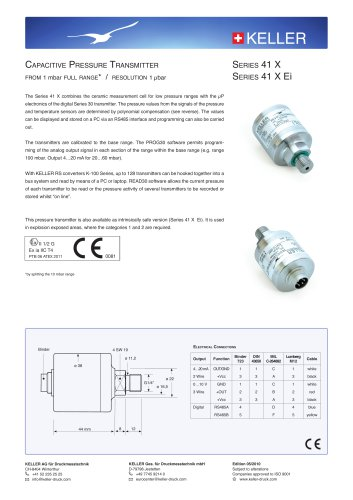 Capacitive Transmitter Series 41 X / 41 X Ei