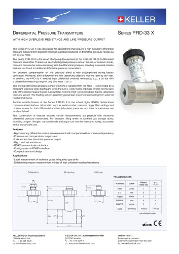 Differential Pressure Transmitter PRD 33-X