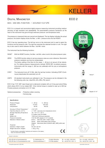 Digital Manometer ECO 2