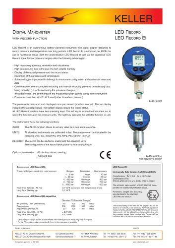 Digital Manometer LEO Record (Ei)