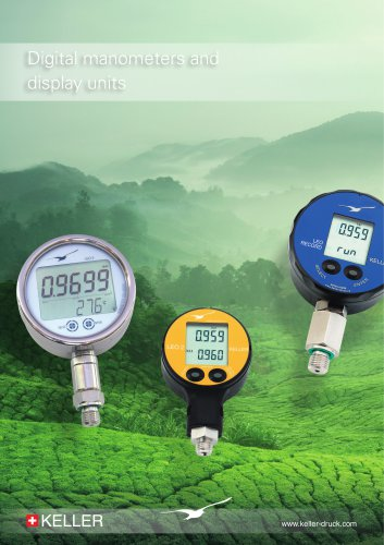 Digital manometers and display units