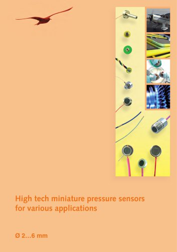 High tech miniature pressure sensors for various applications