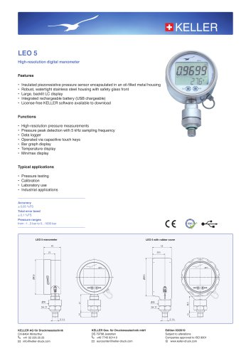 LEO 5 High-Resolution Manometer