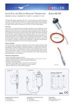 Ultra-Fast and Precise Pressure Transmitters Series M5 HB - 1
