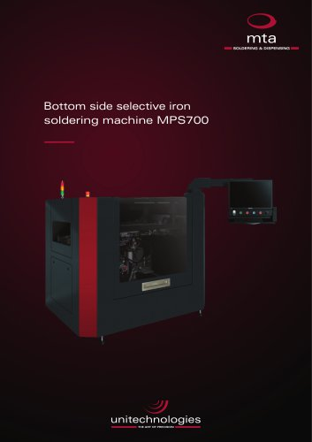 MPS700 bottom side selective iron soldering machine