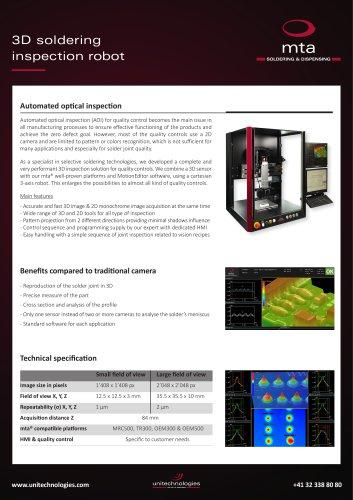 mta® 3D soldering inspection robot