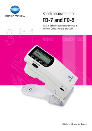 Spectrodensitometers FD-7 / FD-5
