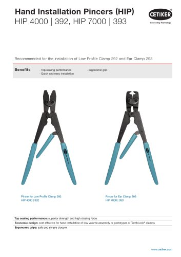 Hand Installation Pincers for ToothLock® Clamps