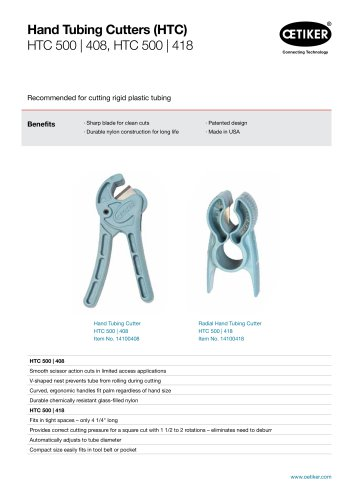 Hand Tubing Cutters