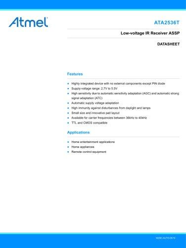 ATA2536T Low-voltage IR Receiver ASSP