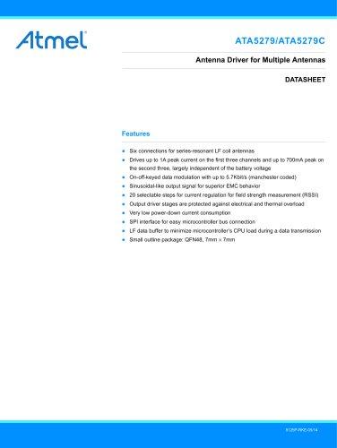 ATA5279/ATA5279C Six-fold LF Antenna Driver IC