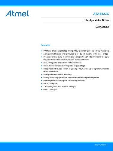 ATA6823C H-Bridge Gate-Driver with LIN Transceiver 2.0, Window Watchdog and 3.3/5V Voltage Regulator