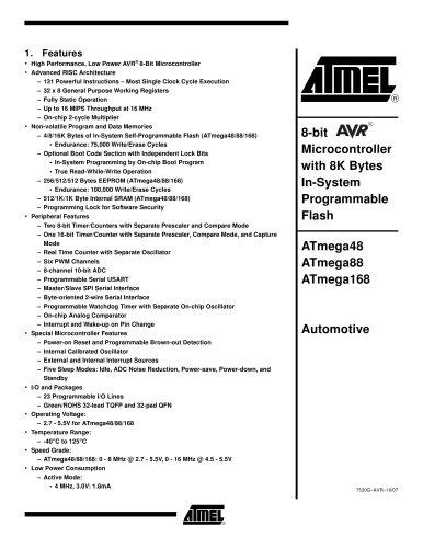 ATmega48/88/168 Automotive