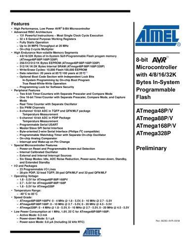 ATmega48P/88P/168P/328P Preliminary