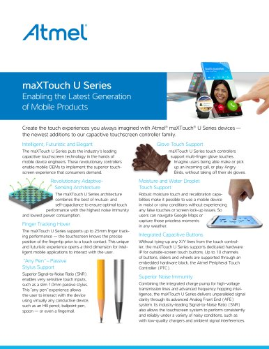 maXTouch U Series - Flyer
