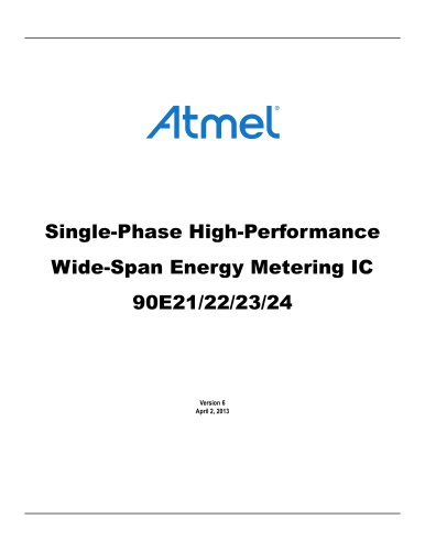 Single-Phase High-Performance Wide-Span Energy Metering IC 90E21/22/23/24
