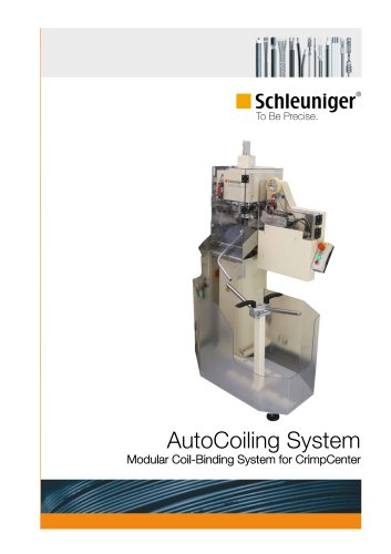 AutoCoiling System - modular coil-binding system for CrimpCenter