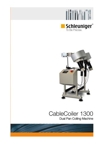 CableCoiler 1300 dual pan coiling machine