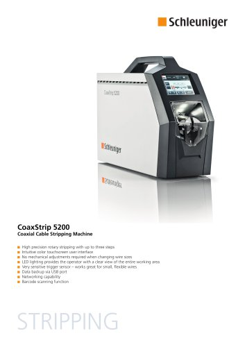 CoaxStrip 5200 Datasheet