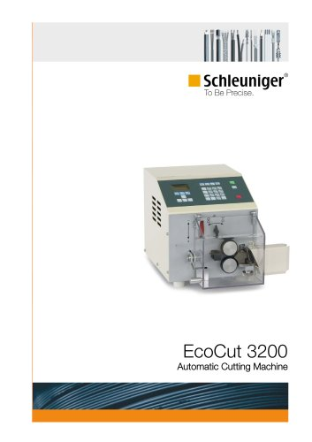 EcoCut 3200 automatic cutting machine (cutter) for wire and tubing