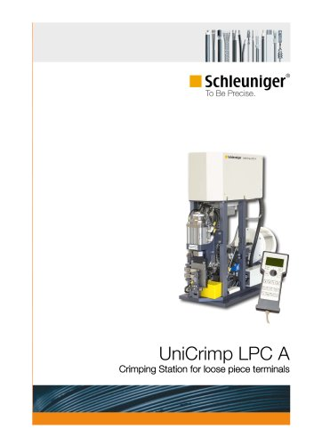 UniCrimp LPC A crimping station for loose piece terminals