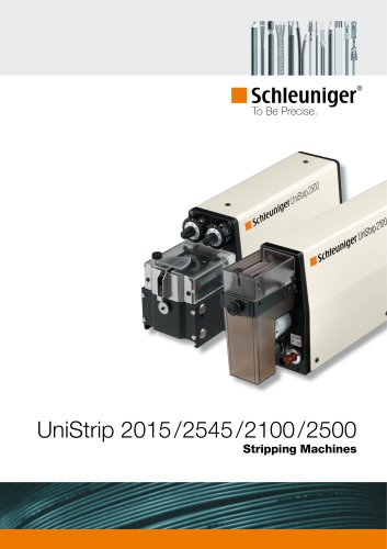 UniStrip 2015 / 2100 / 2500 / 2545 pneumatic and electric wire stripping machines