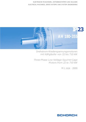 Low-voltage machines IP23, Frame size 180-35