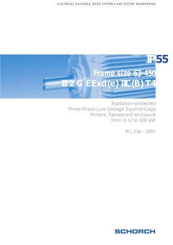 Low-voltage machines IP55, EExd(e), Frame size 63-450