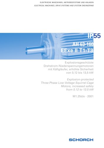 Low-voltage machines IP55, EExe,