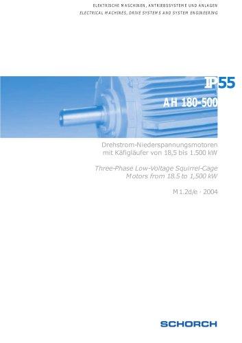 Low-voltage machines  IP55, Frame size 180-500