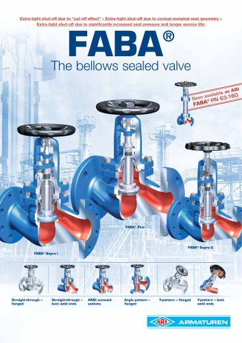 FABA - Bellows sealed valve