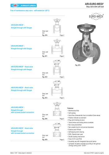 Free of maintenance stop valve - soft sealed