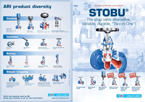 STOBU - Stop valves with gland seal