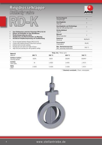 Butterfly valve RD-K
