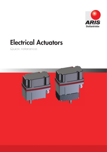 Product Overview Actuators