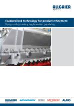Fluidized bed technology for product refinement